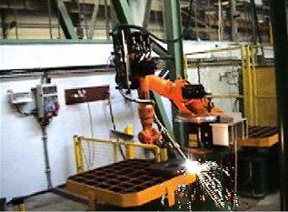 Stanowisko cięcia gazowego – robot KR5arc firmy KUKA