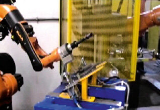Wyszukiwanie miejsca pod spoinę czujnikiem laserowym (robot KUKA KR5arc HW)