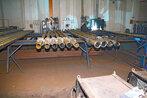 Rury kołnierzowe na stanowisku montażowym